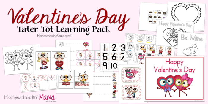 Valentine's Day Tater Tot Learning Pack