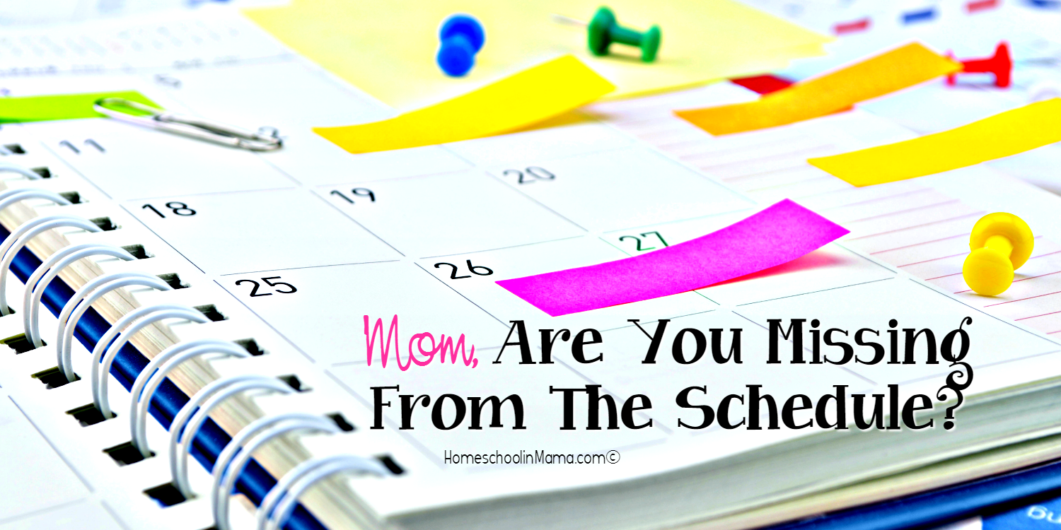Mom, Are You Missing From The Schedule?