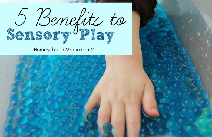 5 Benefits to Sensory Play at HomeschoolinMama.com