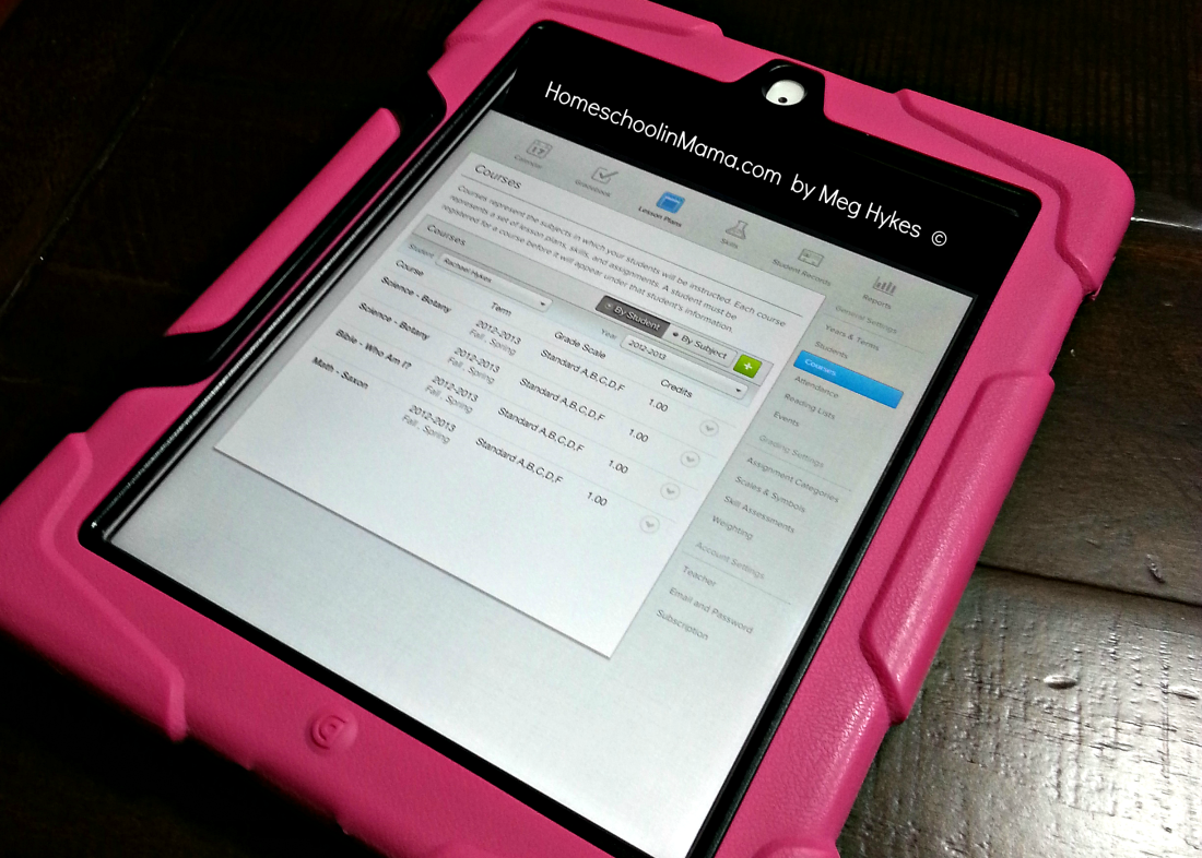 HomeSchool Minder Review - Keep your homeschool records organized the easy way!  www.HomeschoolinMama.com