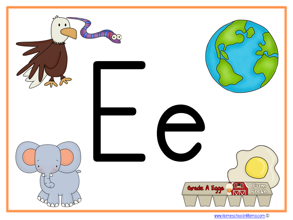Tater Tot Letter Ee Learning Pack from www.HomeschoolinMama.com by Meg Hykes