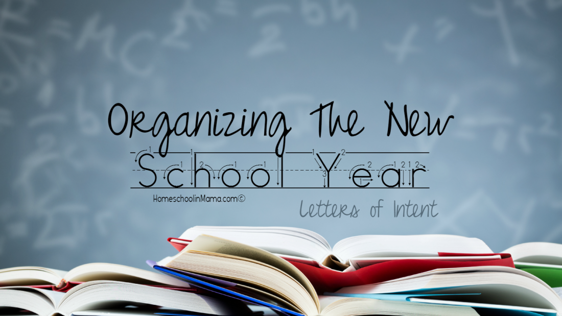 Organization of the new school year - declaration of intent with {free} editable download.