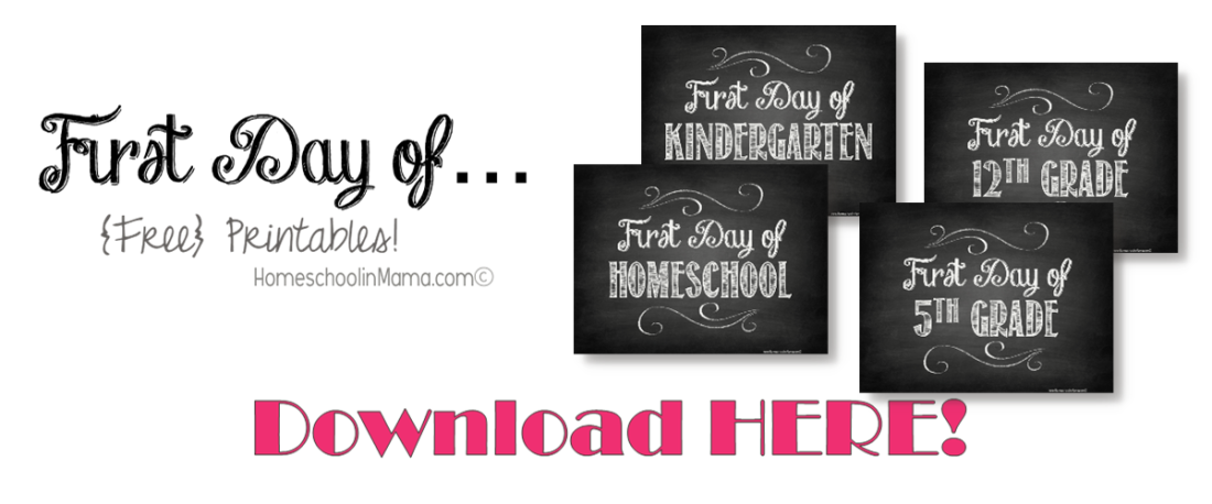 "Back At It Again - with {free} download for your ""First Day of School"" Photos"