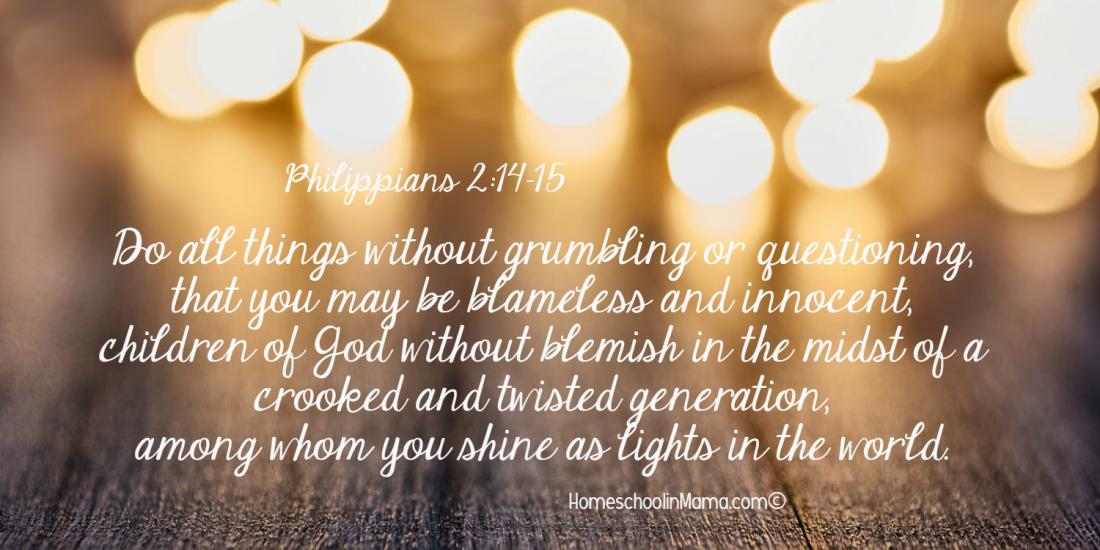 Mama Sets The Tone - Philippians 2:14-15