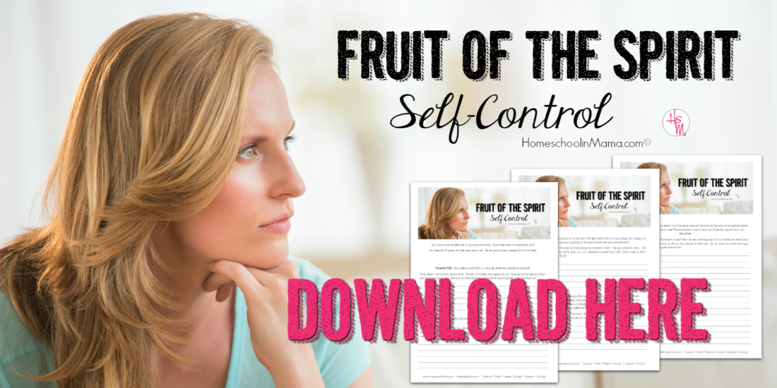 Fruit of the Spirit - Self-Control