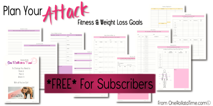 Fitness & Weight Loss Goals Planner