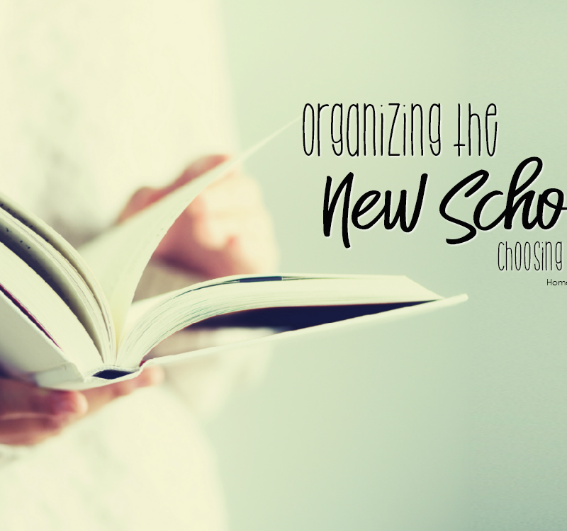 Organizing The New School Year – Choosing Curriculum