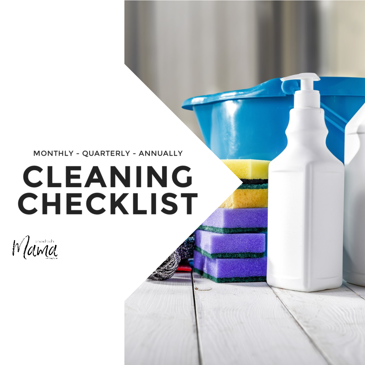 Monthly-Quarterly-Annually Cleaning Checklist