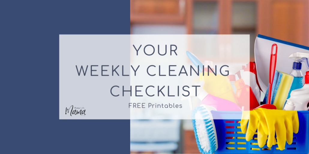 Your Weekly Cleaning Checklist