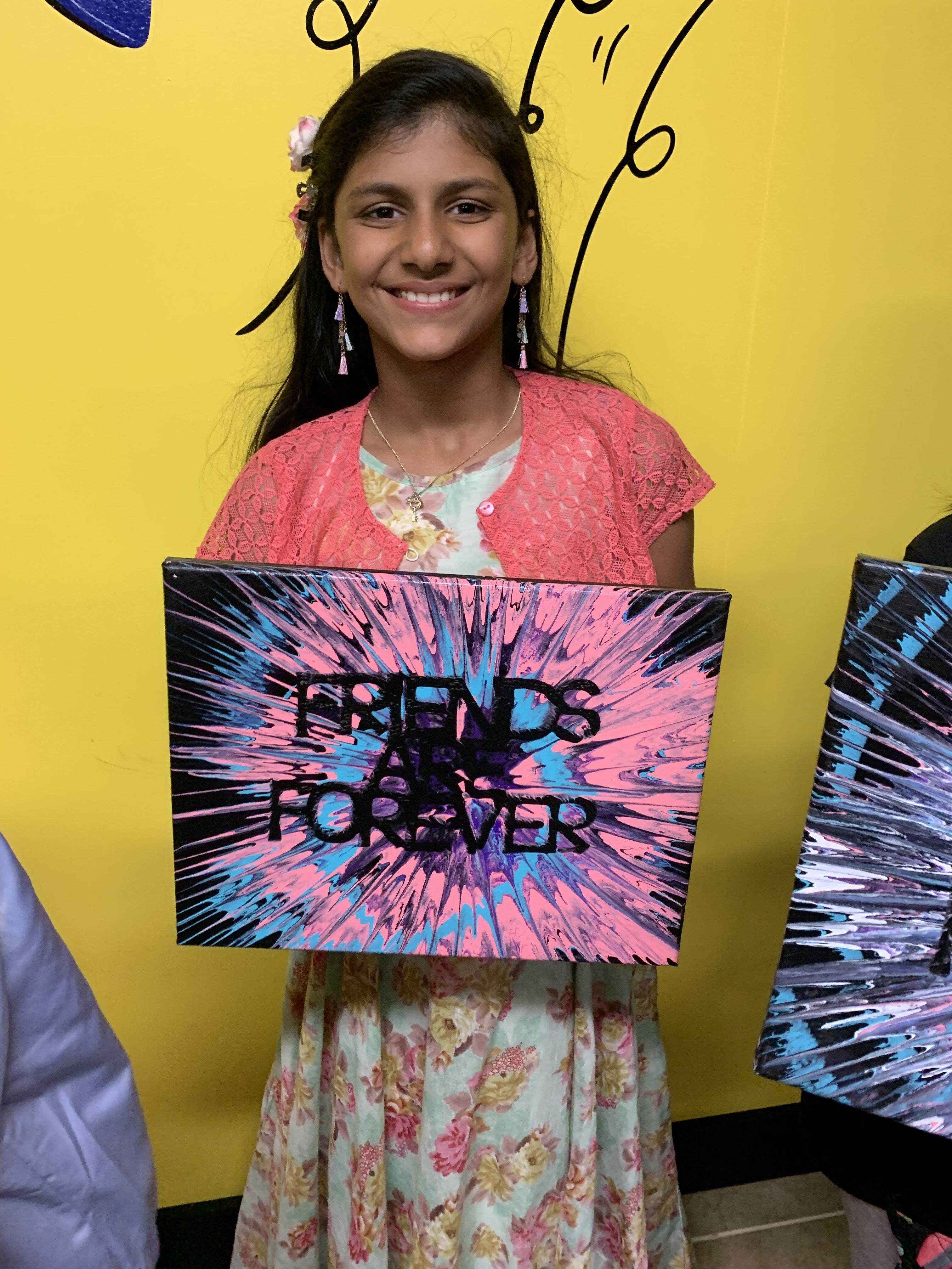 Spin art girl