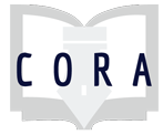Project Cora logo: CORA letters over a book graphic