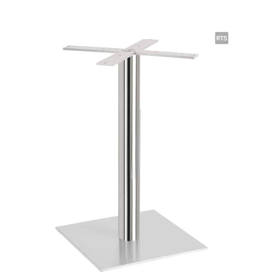 Aceray PIAZZA-DR dining height round table pole and base with stainless steel pole