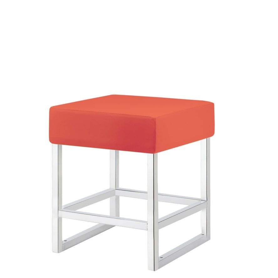Chrome square steel frame with upholstered seat