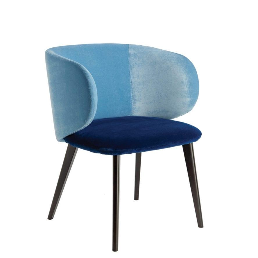 Aura-3 armchair blue upholstery