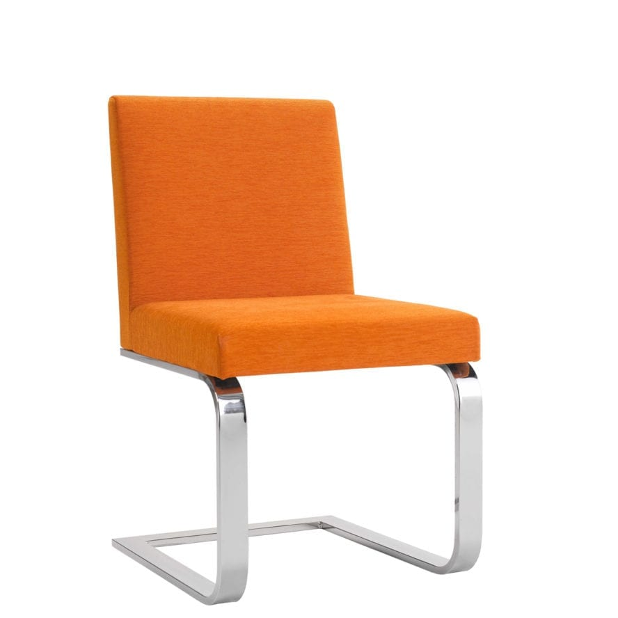 ACERAY_183SLED_cantilever sled base chair orange
