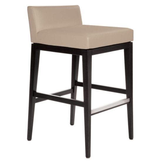 Aceray 683LB low-back counter stool wood frame and upholstery seat and back