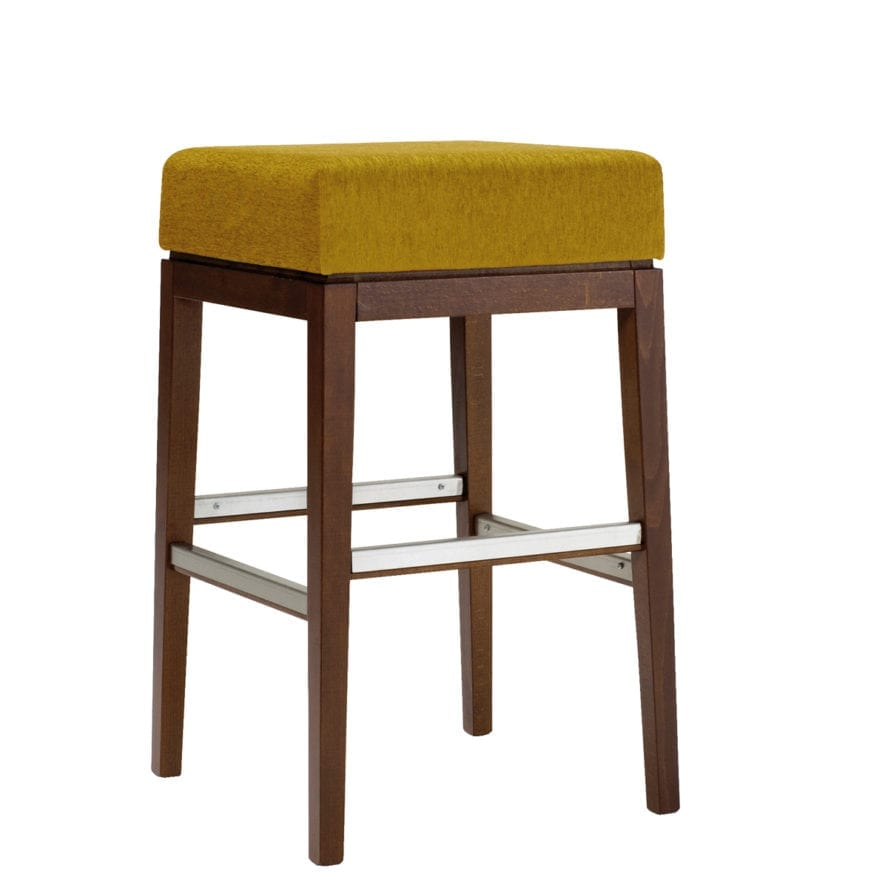 Aceray 683NB backless bar stool with wood framed and 18-inch upholstered seat