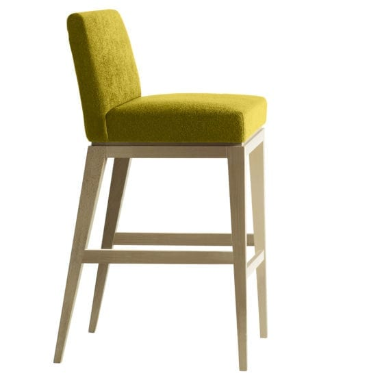 Aceray 683 counter stool wood frame and upholstery seat and back