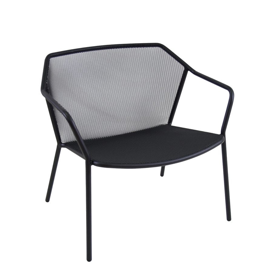 Aceray LIdo-7 stacking lounge chair in black
