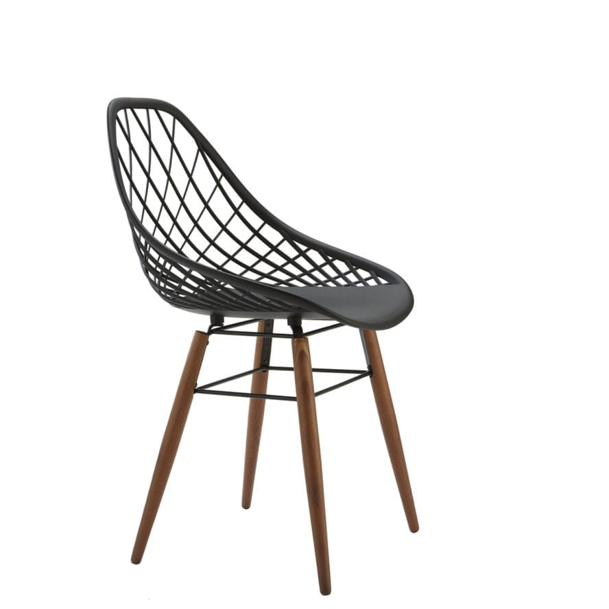 Aceray Valle-1W side chair with wood legs