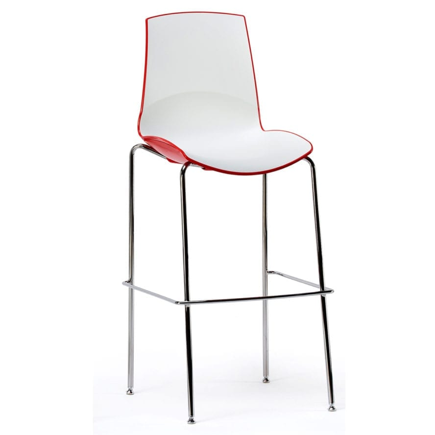 Aceray Now-5 barstool red and white