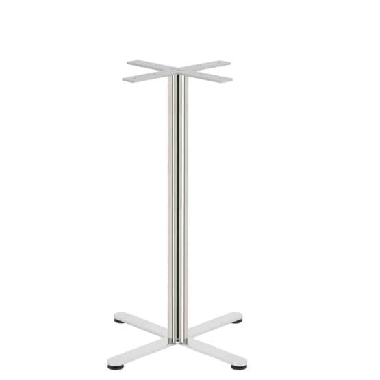 Aceray Strato-B bar table base in polished stainless steel