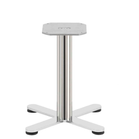 Aceray Strato-L low table base in polished stainless steel
