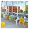 Aceray #120-02 stacking side chair on outdoor patio
