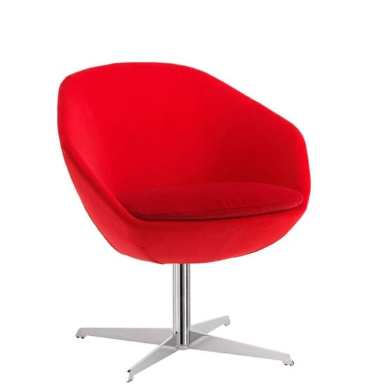 Aceray Conca SWIV4P swivel armchair red, hero view