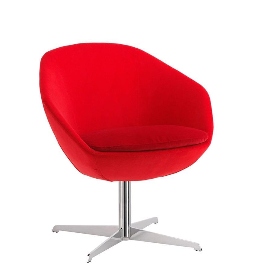 Aceray Conca SWIV4P swivel armchair red, hero view