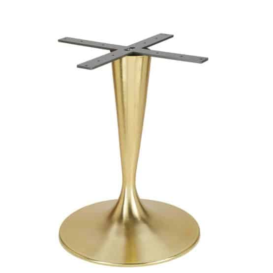 Aceray Faro-D dining height table base in brushed brass