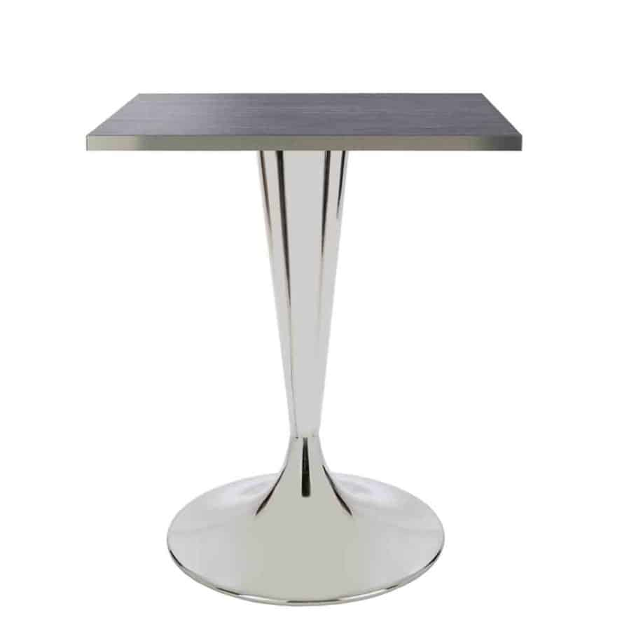 Aceray Faro-D dining height table base polished and top