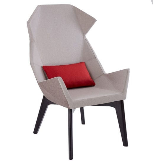 Aceray Oasi-HBW high-back armchair with pillow