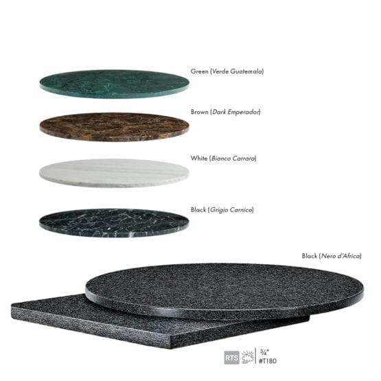 Aceray #T180 indoor outdoor stone table tops