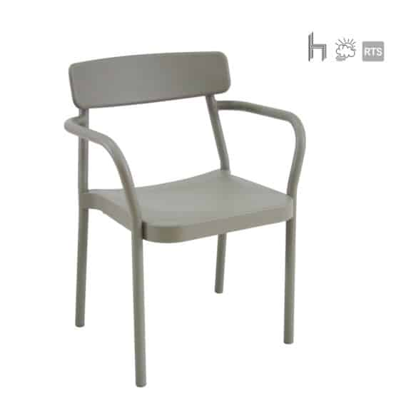 Aceray Astro-3 stacking armchair in grey