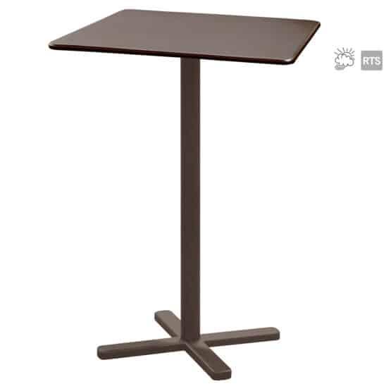 The Aceray Lido-9 indoor/outdoor tilt bar table in brown