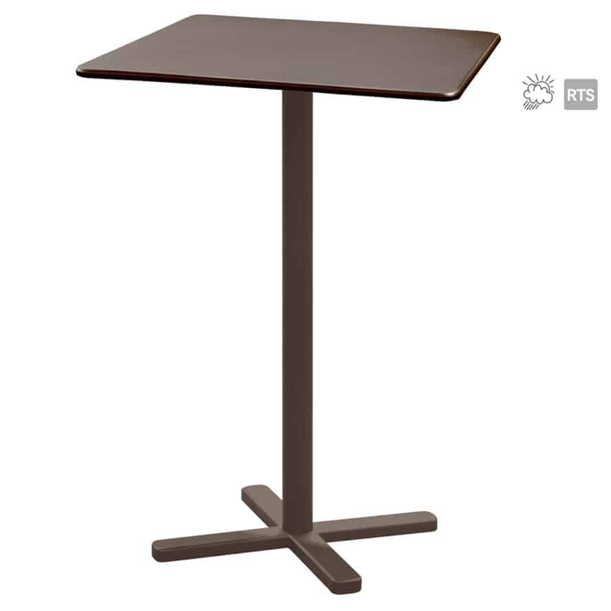 The Aceray Lido-9 indoor/outdoor tilt bar table in brown