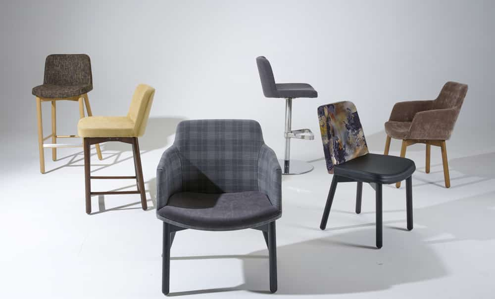 Aceray Molto seating collection of chairs and high seating