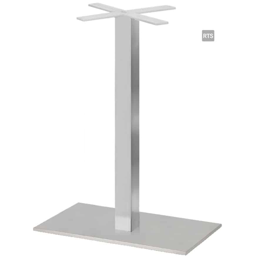 Aceray CAMPO-BQ1 one square pole bar height table base with brushed stainless finish