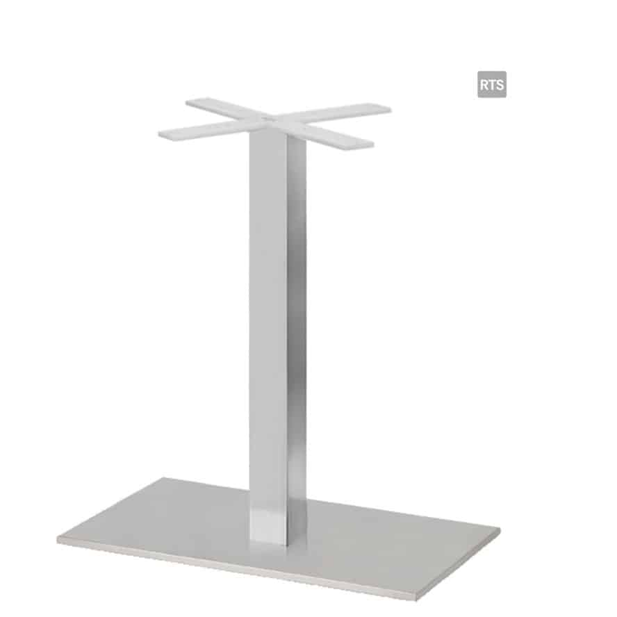 Aceray CAMPO-DQ1 one square pole dining height table base with brushed stainless steel