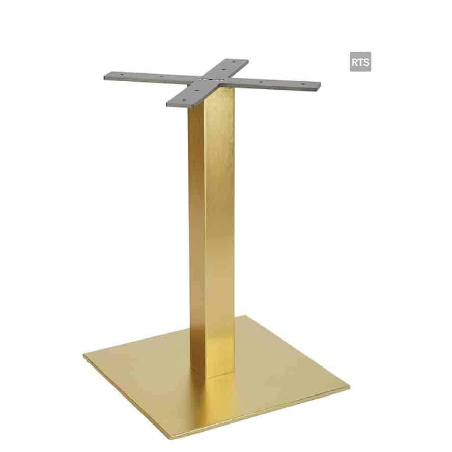 Aceray PIAZZA-DQ dining height square table pole and base with brass pole