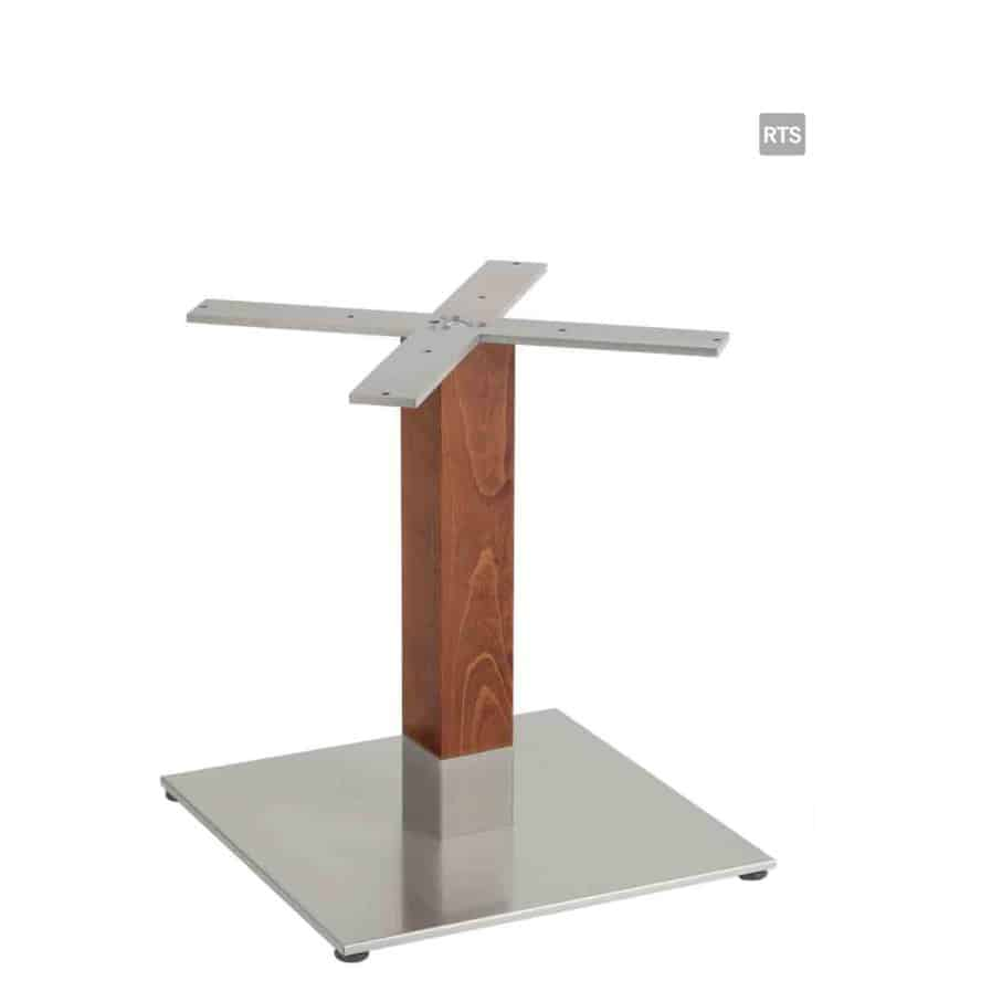 Aceray PIAZZA-LQ low height square table pole and base with wood pole