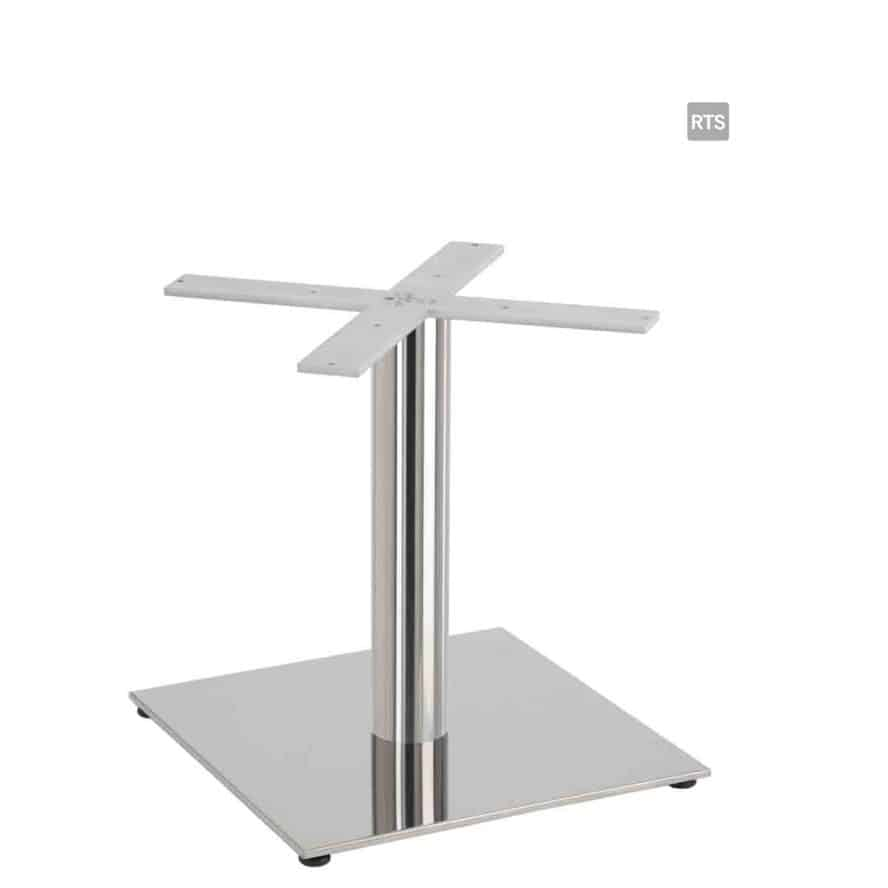 Aceray PIAZZA-LR low height round table pole and base with stainless steel finish