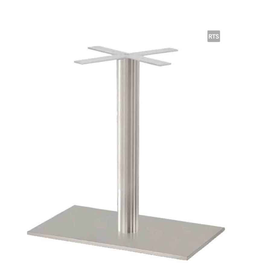 Aceray CAMPO-DR1 one round pole dining height table base with brushed stainless steel