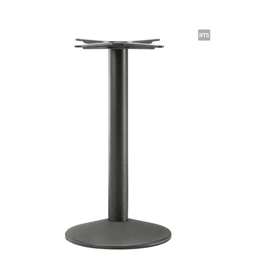Aceray #823 dining height table base in black finish