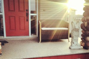 front porch with Duradek vinyl