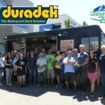 The team at Duradek Canada Ltd. with office staff and local installers for Taste of Heaven Food Truck