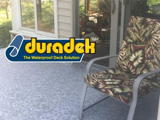 Porch renovation with Duradek Forest Floor Ash