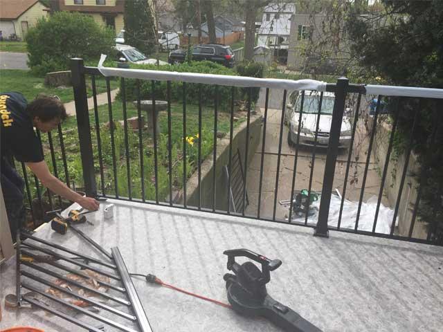 Porch renovation with new Durarail Railings