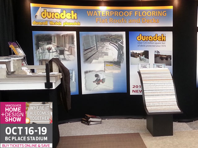 Vancouver Fall Home & Design Show 2014 - Duradek Booth